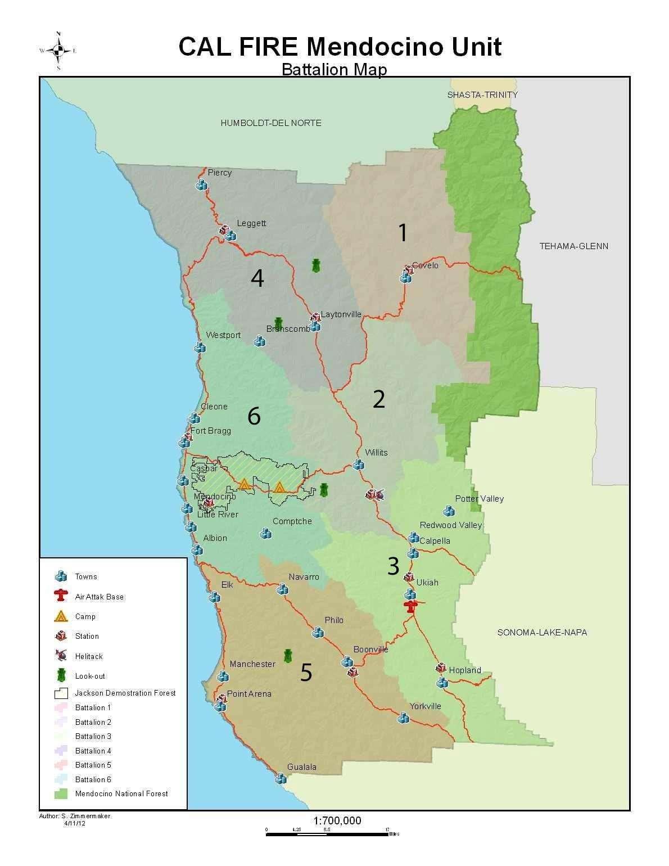 Mccwpp Battalion Map Mendocino County Fire Safe Council