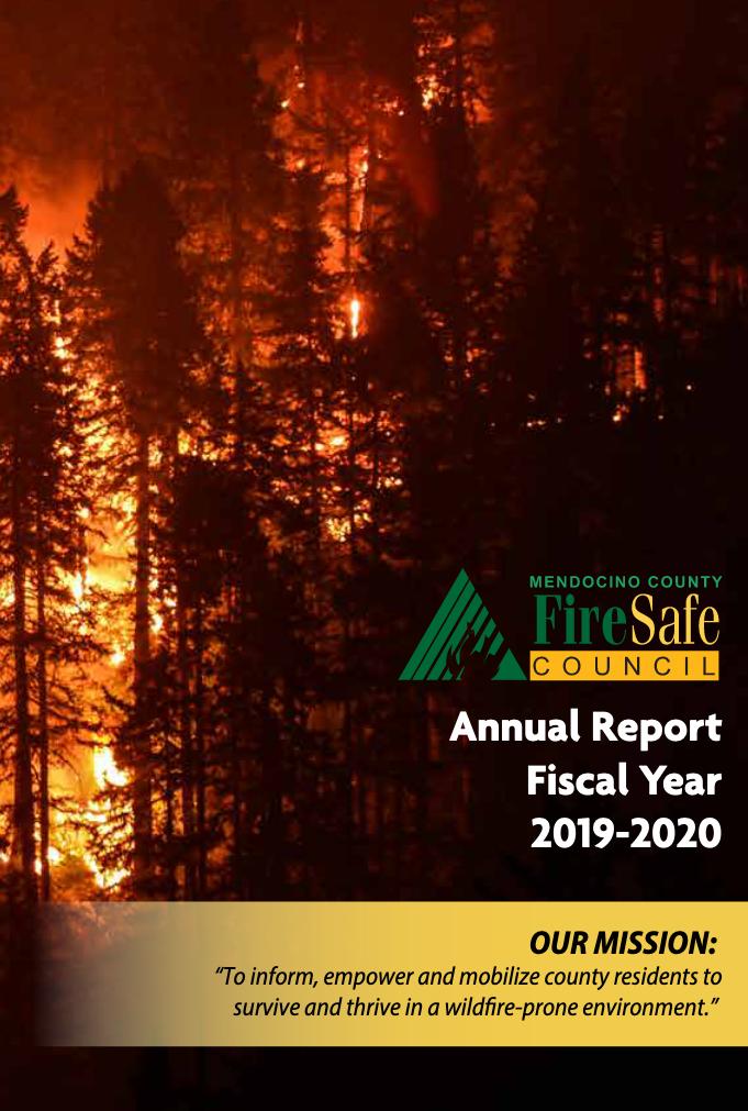 Annual Report for MCFSC, 2019-2020